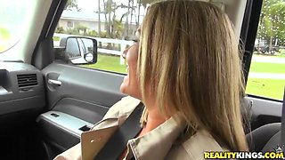 Blonde Milf Picked Up And Seduced