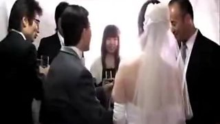 Japanese Bride fuck by in law on wedding day