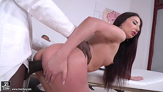 Black doctor wrecking the pussy and ass of lascivious Violetta C