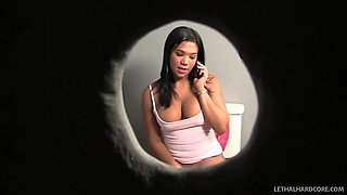 Horny pornstar Emy Reyes in Crazy Glory Hole, College adult movie