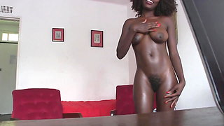 Skinny Black Ghetto Whore Gets Face Hammered by White Cock
