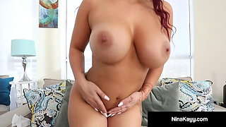 Big Butt Nina Kayy Uses Hitachi To Squirt Her Cum!