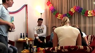 Birthday party and orgy with Cindy and other kinky bods and babes