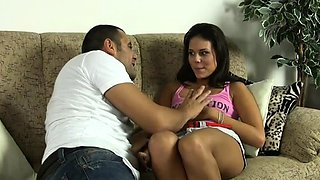 Dinky hungry amazing girl Melanie gets a big one