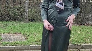 Cheap satin dress from Zara