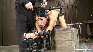 Tia Ling in Tia LingSuch a tiny ass, such a huge machine cock! - DeviceBondage