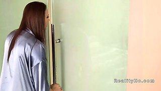 mom caught teen masturbates in bathroom