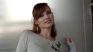 Beautiful red hair women - exibition
