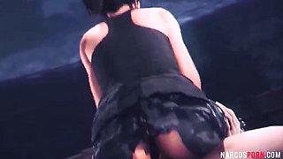 Hot Lara Croft rides big dick in 3D sex compilation