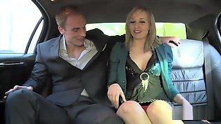 Rich boy fucks a German babe in the car