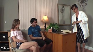 Horny Female Doctor And Teen Couple