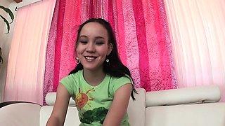 Hot Teen Amai Liu Sucks Cock like a Pro on Casting Couch