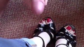 Shoejob Heeljob Cumshot On Shoes & Heels Compilation