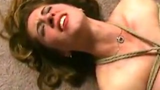 Busty babe dominates her slave