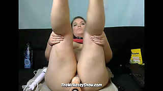 BBW PAWG Creating a Creampie With Her Sex Machine (Part 4)
