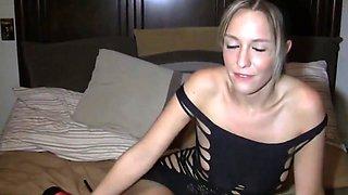 Blonde babe in high heels birthday handjob and pov fuck