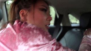 Innocent Ayumi Anime Backseat Sex In Infiniti QX50 Luxury SUV HOT POV ACTION