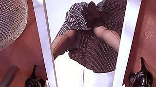 Exotic Japanese slut in Incredible Upskirt, Lingerie JAV scene