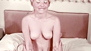 Pale skin cute vintage girls with hairy pussies in porn compilation