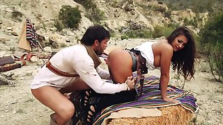 Sexy cowgirl Susy Gala gets fucked outdoors