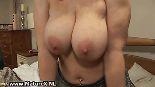Horny mature wife in sexy lingerie loves part1