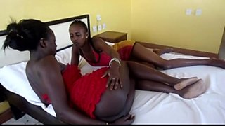 Strapon wielding lesbian African girls