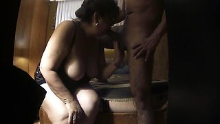 Sex with a fat granny filmed on a hidden cam