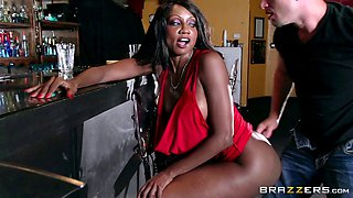 Horny milf sluts stay after closing to fuck the bartender