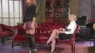 Teacher Teaches Schoolgirl