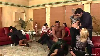 drunk orgy with slutty gals and horny guys