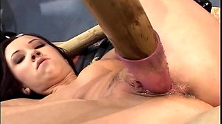 flick abused and used in all her holes at the same time