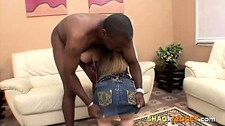 Brunette Midget Girl Fucked by Black Guy