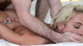 Hot Teen Blonde Gets Aggressive Fuck!