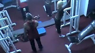 Trainer caught fucking a client in a gym