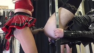 Mistress taylor takes cyclops for a ride.