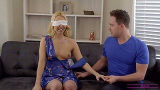 Horny stepson is fucking sexy blind folded stepmom Aaliyah Love