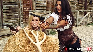 Jasmine Webb and Jessa Rhodes crave to be fucked by a horny cowboy