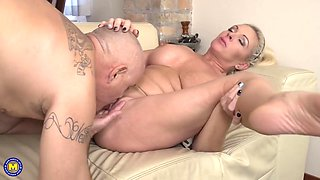 Krista E Is Blonde And Enjoying His Cock