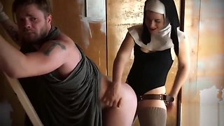 Crazy Nun FUCKS Jesus In the ASS 1