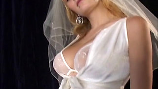 Teen bride with big tits in erotic scene