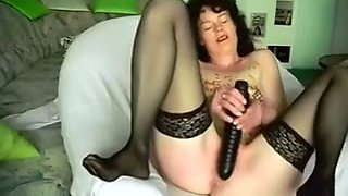 Teasing my darksome brown mother i'd like to fuck wife with hot candle wax as this honey masturbates