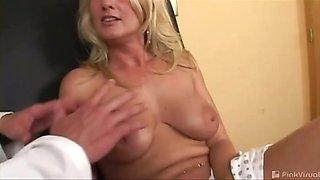 This hot mama sure had a huge rack! The dumb slut actually
