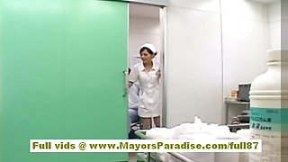 Rio Hot Asian nurse gets naked and playing