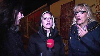 Sexy Lana Vegas and Melina Pure enjoy cock sucking