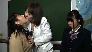 Japan lesbian teacher gets asslicked by Japan lesbian schoolgirls