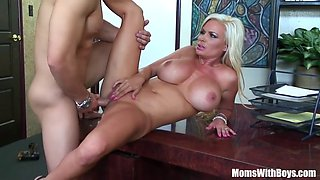 Bigtit Blonde Wife Diamond Foxxx Office Fuck