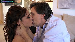 Kara Price loving Steve Holmes cock deep in her ass
