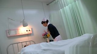 Hot Japanese nurse in some hardcore sex on video