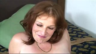 Horny mother sucks and fucks her son