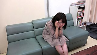 Pretty Japanese schoolgirl in uniform takes a hard fucking